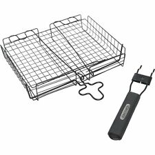 Grill Pro Deluxe Non Stick Broiler Basket with Detachable Handle 24876