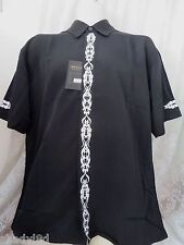 DRAGONFLY SHIRT PSYCHO TB-2 NWT Medium BLACK EMBROIRDERY Button Front Riding