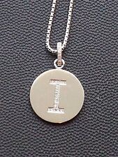 """Brand New Diamond """"I"""" Initial Pendant, Sterling Silver (.07 CT. T.W.)"""