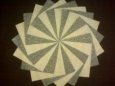 30 4x4 Blue Quilt Fabric Squares~4070e
