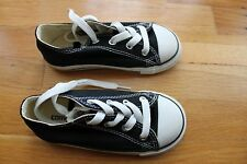 b24f4f5b0540 Converse black and white all star low toddler size 9 used