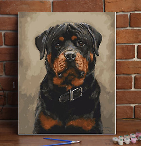 Personalised Paint By Numbers Custom Kit Oil Picture Canvas Portrait Pets Adults