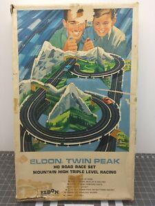 Eldon HO Road Road Race Set Mountain High Triple Level Racing Ferrari Sting Ray