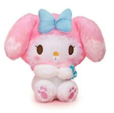 Girl's My Melody Plush Doll Stuffed Toy Blue Bow Gift Collection 18cm Decor Cute
