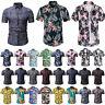 Herren Hawaiihemd Kurzarm Shirt Sommer Slim Fit Freizeithemden Strand Bluse Top