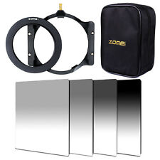 """ZOMEI 4""""x6"""" Gradual ND2,4,8,16 Square filters+72mm ring+holder+Bag For Cokin Z"""