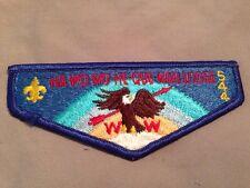 MINT OA Flap Lodge 544 Ha-Wo-Wo-He-Que-Nah Blue Border
