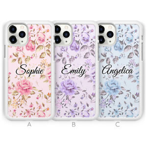 Personalised Flower Name Phone Case For iPhone 13 Pro Max 12 Mini 11 XR X XS 8 7