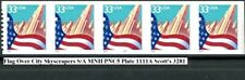 Flag Over City Skyscrapers S/A Coil Strip of 5 PNC5 PL 1111A MNH Scott's 3281