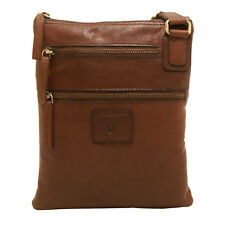 Rowallan - Small Brown Body Cross Messenger Bag In Soft Gaucho Leather