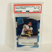 James Conner 2017 Panini Donruss Optic Rated Rookie PSA 8 NM-MT RC