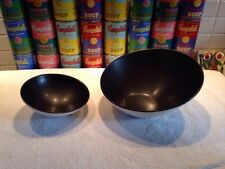 Pair of NWT Steelite International Dusk Black SHEER modern asymmetrical bowls