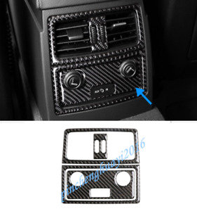 Real Carbon Fiber Rear Air Vent Outlet Cover Trim For BMW 5 Series E60 2005-2010