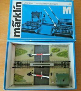 Märklin 7390 H0 Mechanical Railroad Crossing Tested Boxed