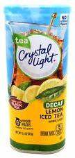 4 12-Quart Canisters Crystal Light Decaf Lemon Iced Tea Drink Mix