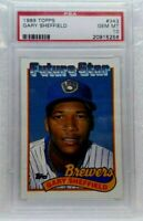 1989 Topps Gary Sheffield Milwaukee Brewers #343 Baseball Card