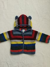 GAP BABY BOYS 0-3 MONTHS HOODED STRIPED CARDIGAN COMBINED POST