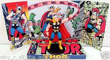 MIGHTY THOR Comic Book Superhero Action Figure + Custom Design Display Diarama 2