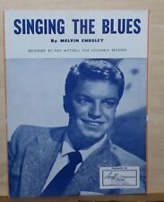 Singing The Blues  - 1954 sheet music - Guy Mitchell photo cover