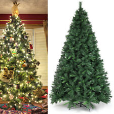 8Ft Artificial PVC Christmas Tree W/Stand Holiday Season Home Outdoor Green