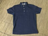 Brooks Brothers Adult Mens Medium Slim Fit Polo Shirt Blue Patterned