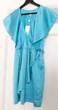 New With Tags Halston Heritage Turquoise Blue Silk Dress-Size 8 UK(4US)
