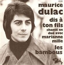 """MAURICE DULAC AND MARIANNE MILLE Dis A Ton Fils 7"""" Record French Barclay EX"""