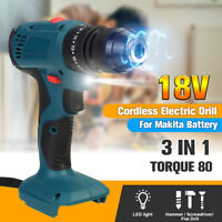 3 in 1 Electric Cordless Impact dril Rechargeable Hammer drill Screwdriver 18V