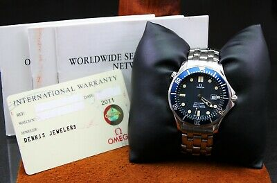 """Men's OMEGA """"Seamaster Professional Diver"""" Watch Blue Wave Dial Stainless Steel"""