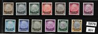 Complete MH set Osten overprints  Hindenburg Third Reich occupation of Poland