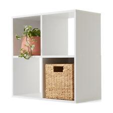 4 Cube Unit Book Shelves Furniture Organiser Storage Wooden Home Decor White