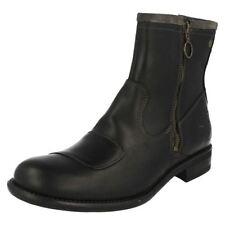Scarpe da uomo nere in camoscio con cerniera