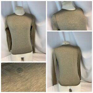 Lululemon Athletic Tee Shirt XS Women Tan Brown Cotton Stretch Crew YGI H1-207