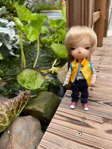 Adorable tiny bjd secretdoll person resin recast lati yellow pukifee size 1/8