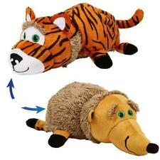 Flip Pets 2-in-1 Plush Animal Buddies Tiger/Hedgehog