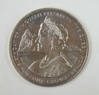 Gibraltar Coin One Crown, 1980, UNC, 80th Birthday of Queen Mother