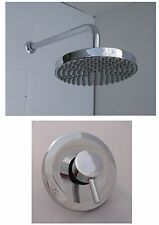 CONCEALED SHOWER MIXER VALVE TAP, RAIN HEAD & ARM, ALL METAL & CHROME, 337