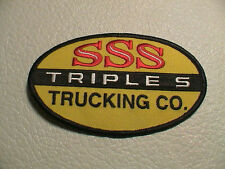 TRIPLE S SSS TRUCKING CO TRACTOR TRAILER SEMI RIG TRUCK TRUCKER DRIVER PATCH NEW