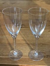 More details for dartington crystal rachael 2 x white wine glasses - vgc - signed