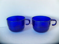 Set of 2 / TUPPERWARE 2111 Acrylic Cobalt Blue Watercolor Punch Cup Discontinued