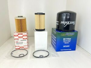 ISUZU NPR-HD NRR NQR OIL FILTER FUEL FILTERS (2) KIT 2010-2016