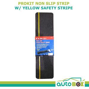 NON SLIP STEP SAFETY STRIP WITH YELLOW STRIPE BOAT CARAVAN CAMPER DECK RAMP