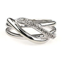 Diamond Woven Ring 0.10ctw in 10K White Gold