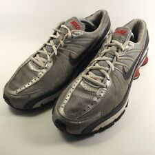 Nike Mens Shox Turbo VII Lace Up Athletic Shoes Grey Silver 324907 US 10.5