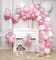 PartyWoo Pink Balloons, 100 pcs Pack of Pink Balloons, Pastel Pink Balloons,