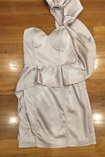 Seduce Myer Formal Casual Cocktail dress size 8 Cream 1 Shoulder Condition