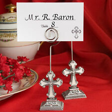 70 - Elegant Cross Place Card / Photo Holders - Wedding Favors