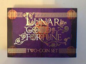 2014 LUNAR GOOD FORTUNE PERTH MINT 2 COIN SET