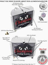 "3 Row Atomic Champion Radiator W/ 14"" Fan for 1941 - 1952 Plymouth Cars #CC4152"