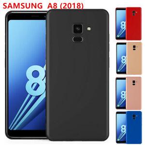 Samsung Galaxy A8 2018 Cover Custodia Silicone Opaco Antiurto + Vetro Temperato